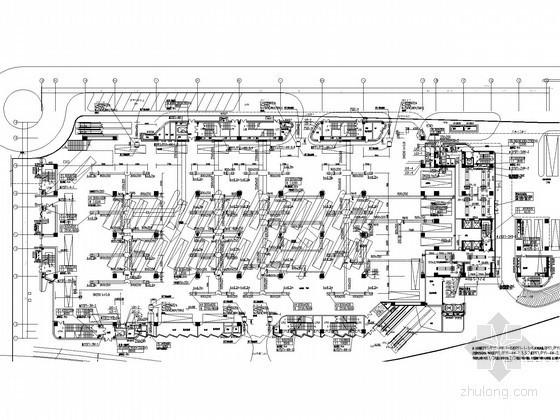 [福建]大型火车站广场停车场空调通风与防排烟系统设计施工图(人防设计)