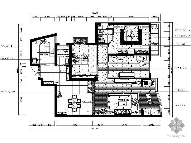 [湖南]三室两厅装修图(含效果)Ⅰ