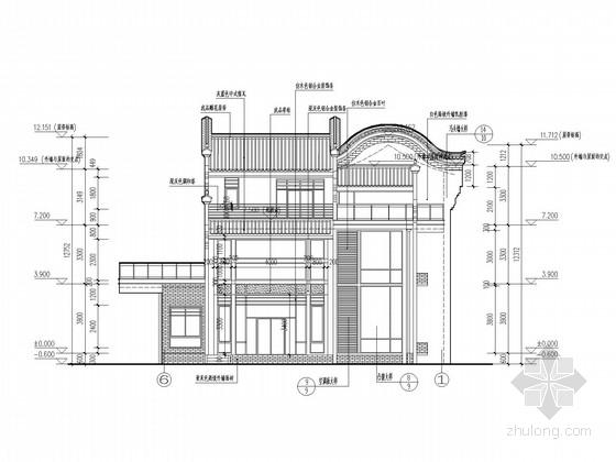 4层坡屋顶框架别墅建筑结构施工图
