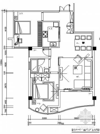 [郑州]两居小户型样板房装修图
