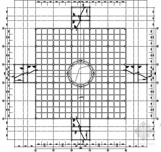 钢构骨架、混凝土框架结构观音像施工图