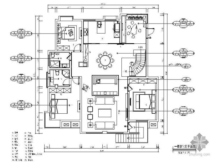 [北京]某别墅施工设计图(含效果图)