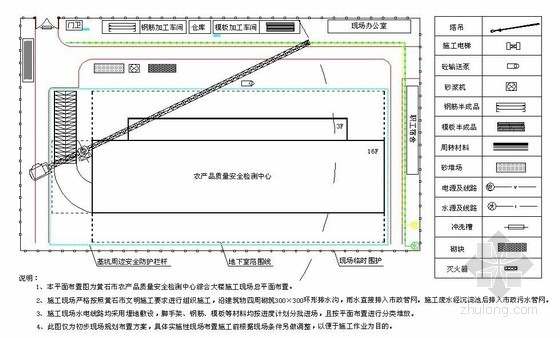 地下室、主体、装饰施工现场平面布置图