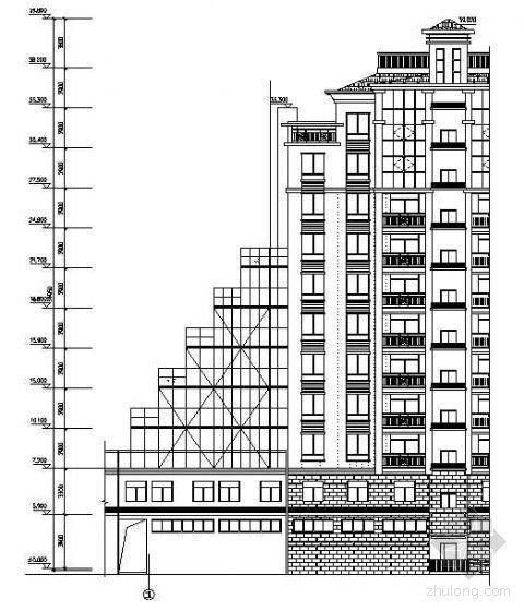 小高层商住楼阶梯形落地料台的设计与施工