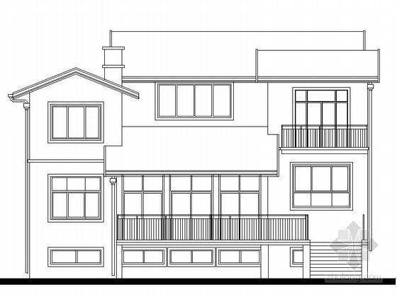 [济南]某二层独栋别墅建筑施工图(324平方米)