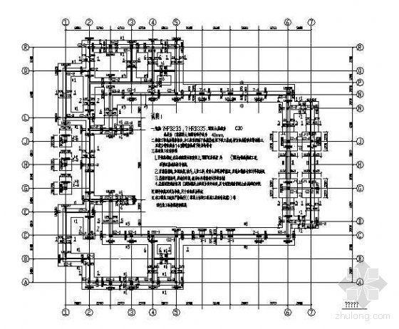 某砖混礼堂结构设计图纸