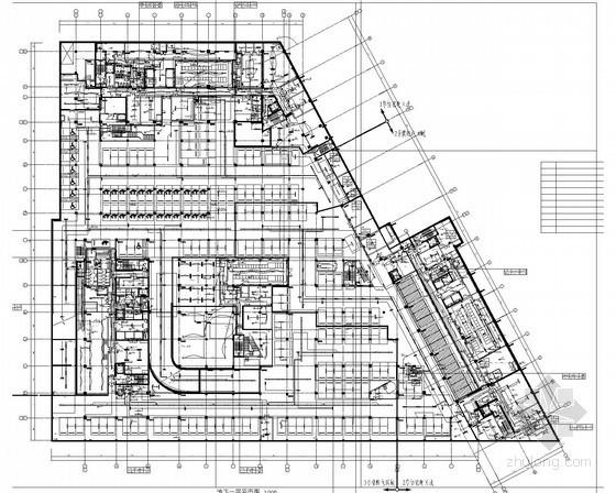 [上海]大型高层公共综合楼全套电气施工图纸227张(3栋办公楼 商业 车库)