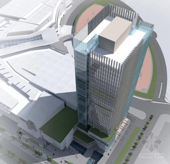 [南京]某35层5A甲级写字楼建筑方案文本(172米)