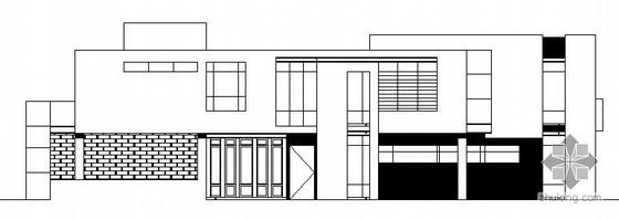 某二层山地别墅建筑结构方案图(带效果图)