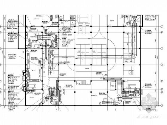 [安徽]高层办公楼空调全系统设计施工图(地源热泵 带外网设计)