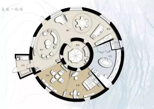 深度解析!一个圆形户型的15个高超方案!_16