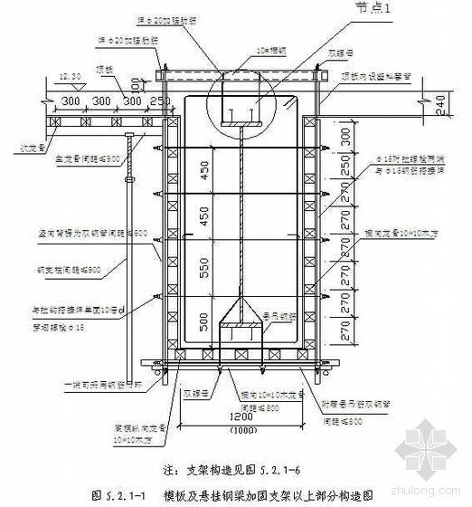 结构转换层模板施工工法