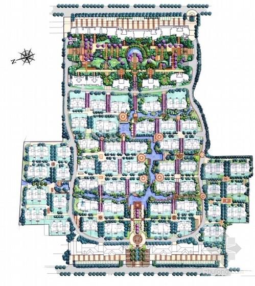 西班牙风格滨水住宅小区景观概念设计方案