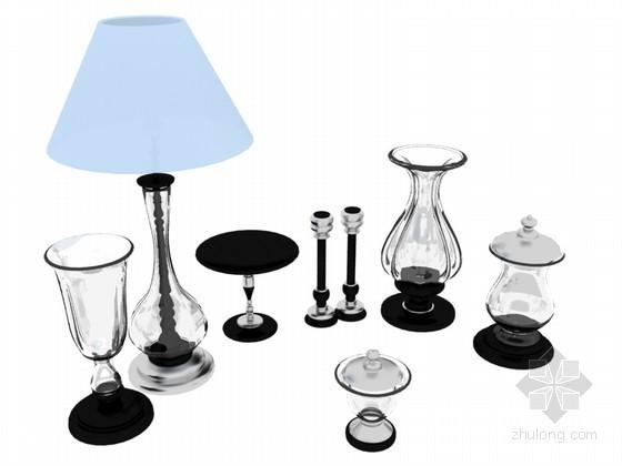 台灯玻璃器3D模型下载