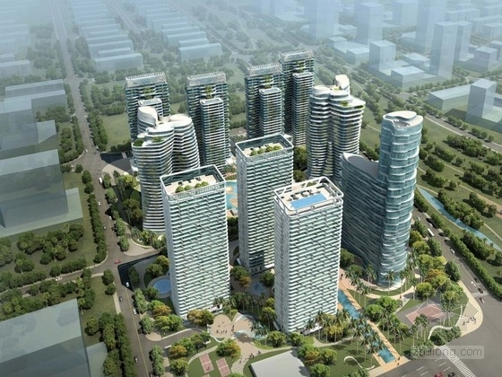 [海南]现代风格住宅区规划及单体设计方案文本