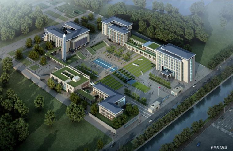 [安徽]高层新中式风格坡顶党校建筑设计方案文本