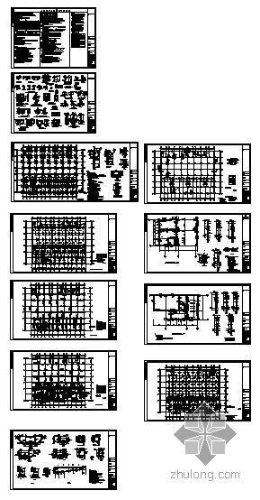 漳州某住宅楼人防地下室结构图