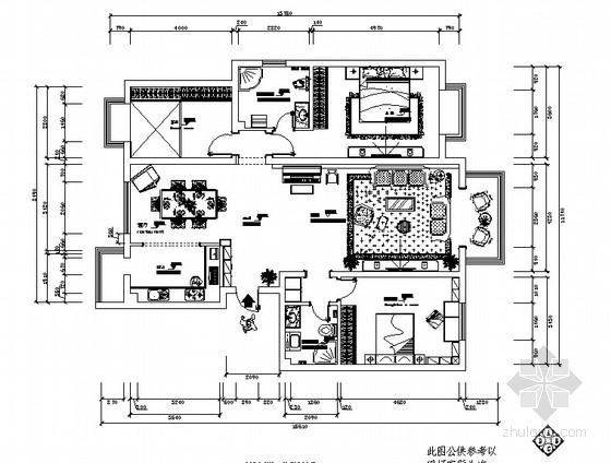 [鄂尔多斯]某小区现代简约三室两厅装修图