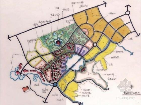 [江苏]国际级综合性旅游度假区景观规划方案-初期概念方案草图