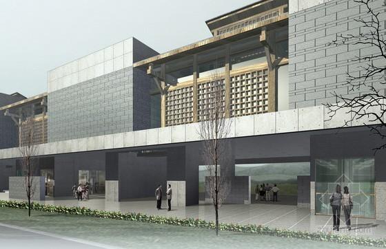 [成都]某博物馆及周边建筑方案文本和施工图