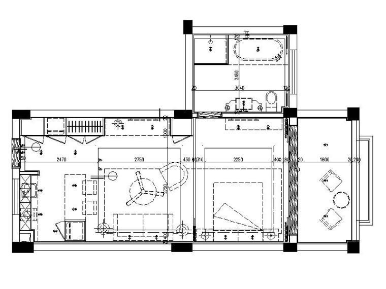 [北京]现代简约时尚小户型室内设计施工图