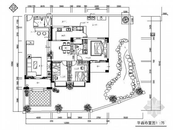[广州]三室两厅简欧风格室内装修图