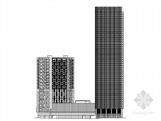 [成都]49层玻璃幕墙知名城市商务综合体建筑设计施工图(含局部节点详图)