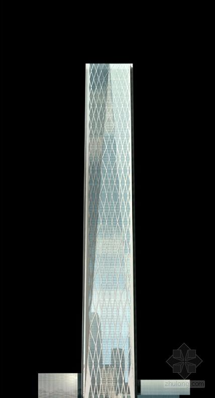 超高层玻璃幕墙办公塔楼建筑设计立面图