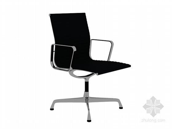 时尚黑色椅子3D模型下载