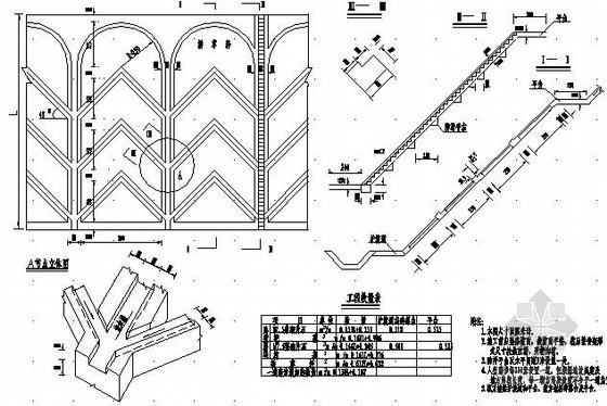 路基防护设计图17张(挂网面墙 植物防护)