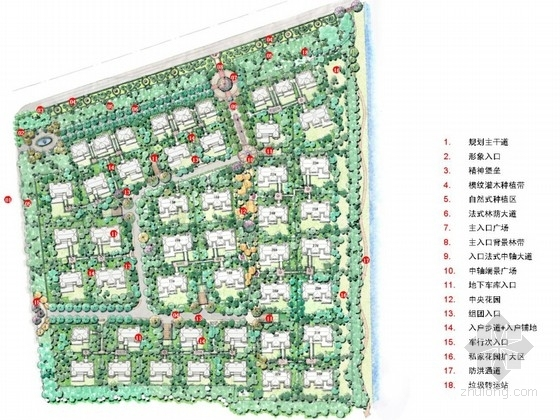 [上海]高档别墅居住区景观概念规划