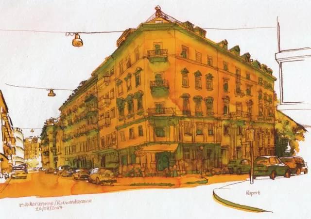 建筑手绘,国外设计师画的就是好看!_13