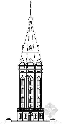 欧式观光塔建筑设计详图