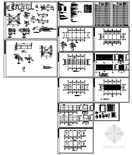 某单层钢结构厂房设计图