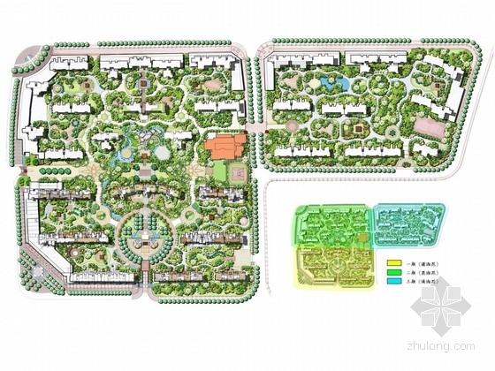[长沙]新中式风格湖湘文化居住小区景观规划设计方案