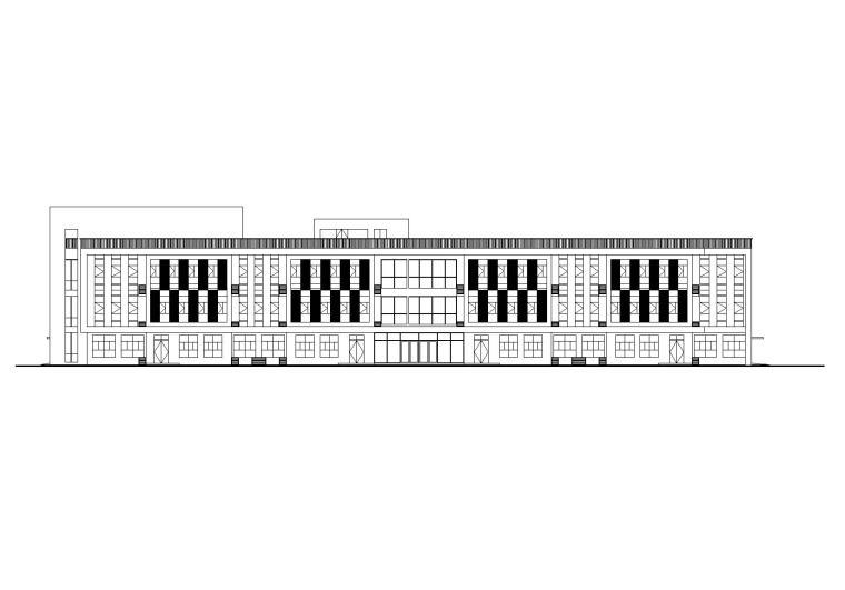 12班幼儿园建筑设计方案施工图(CAD+SU+效果图)