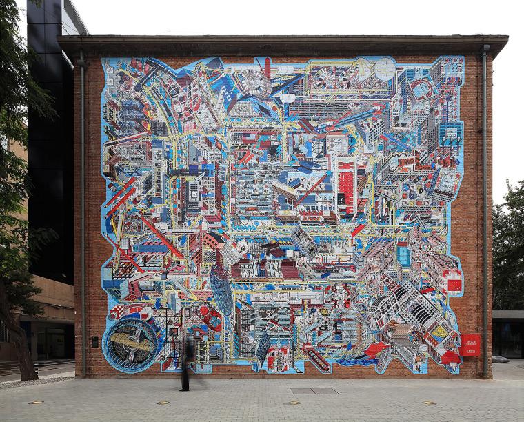北京798全景壁画
