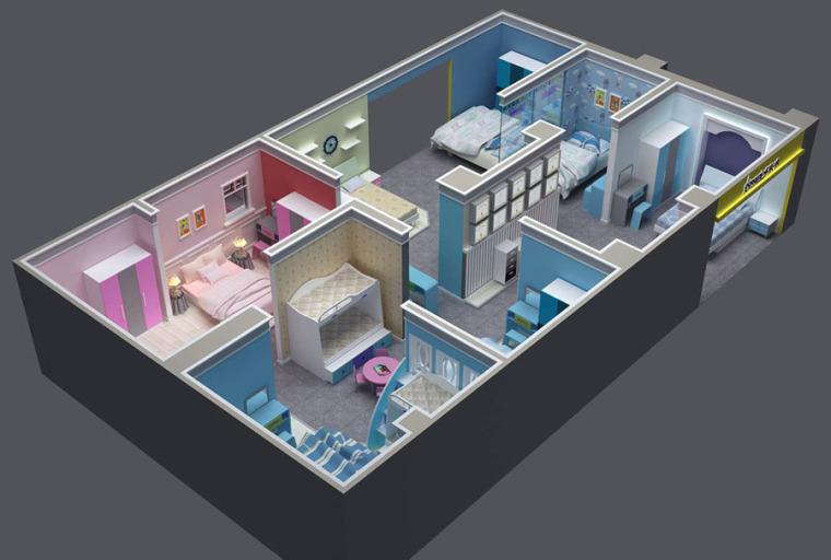 (原创)家具展厅.家居卖场设计案例效果图