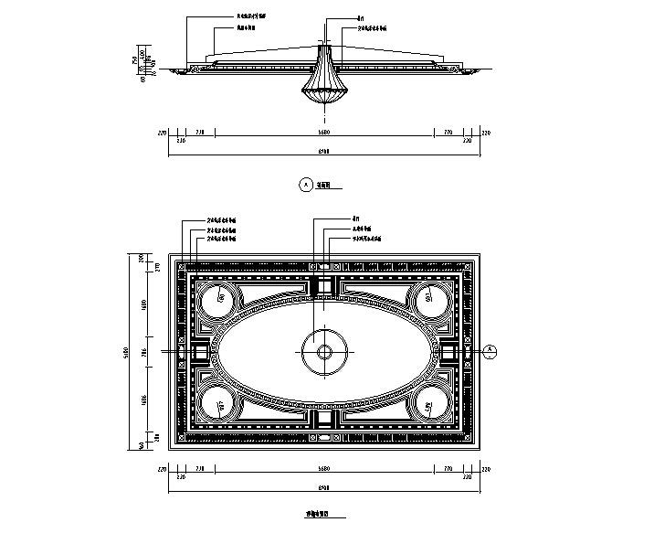 CAD常用图块平面图资料下载-CAD室内设计施工图常用图块之顶棚