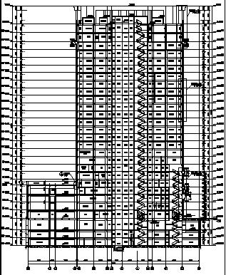 高层教学科研楼建筑施工图(含水暖电全专业图纸)