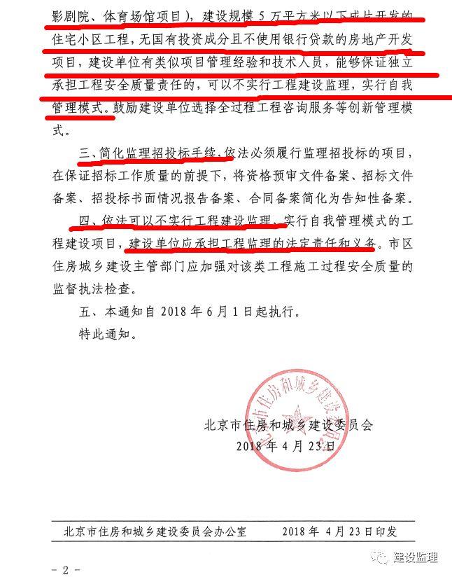 重磅!北京部分工程无需监理!责任由建设单位承担!_8