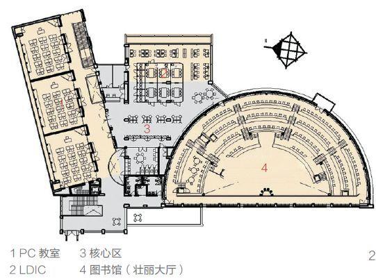 直径44m的半圆形和伞构造支撑起多雪地区的屋顶_2