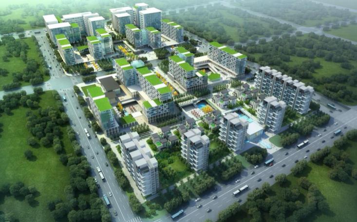 上海虹桥万科现代风格住宅小区SketchUp模型