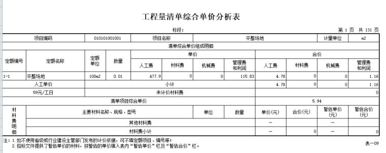 【广联达】综合清单导入工程实例1-清单计价表格_4
