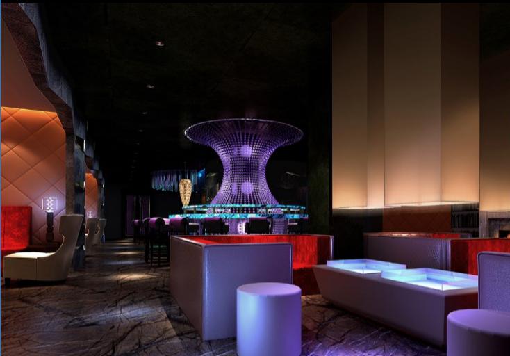 """西宁""""悦""""酒廊酒吧CAD室内设计施工图(含效果图)"""