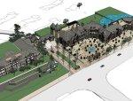 商业建筑群西式风格三层模型建筑设计(su模型)