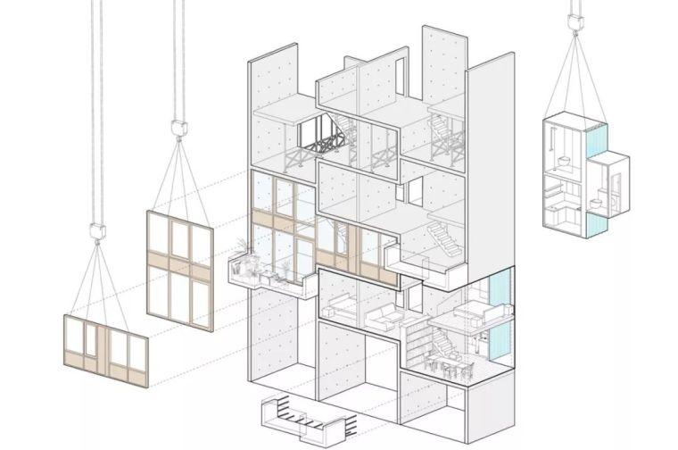 建筑师独立开发的公寓楼,真是好房子!_18