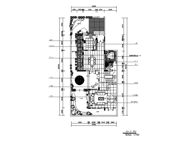 [广东]现代风格别墅样板间CAD施工图(含效果图)-【广东】现代风格别墅样板间CAD施工图(含效果图)平面图