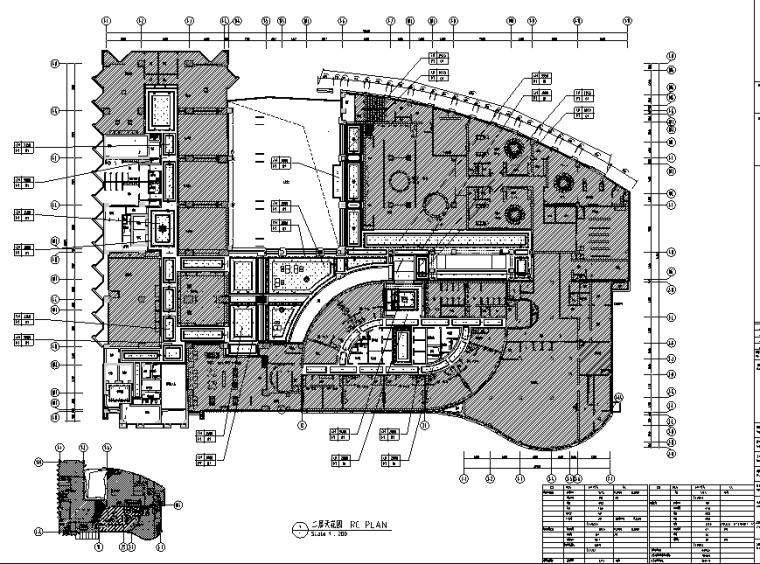 12600平方米酒店空间设计施工图(附效果图)_2