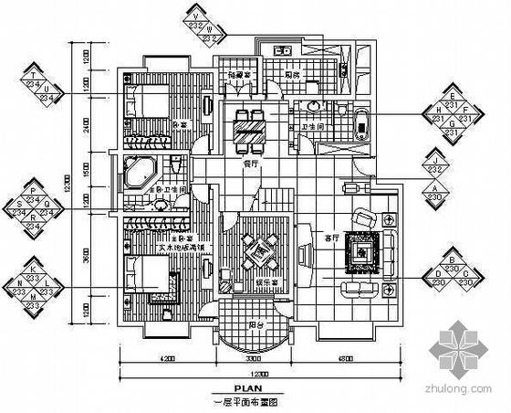 某二层别墅经典装修施工图